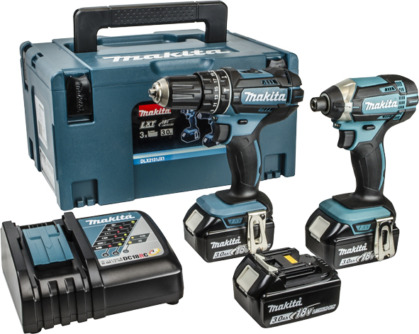 Makita 18V LXT 2 Piece Kit c/w 3x3.0ah Batteries