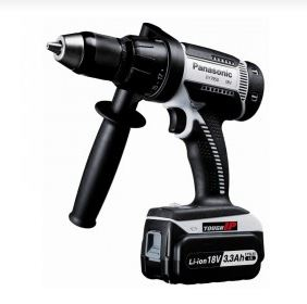Panasonic 18v Combi Drill c/w 2x3.3ah Batteries