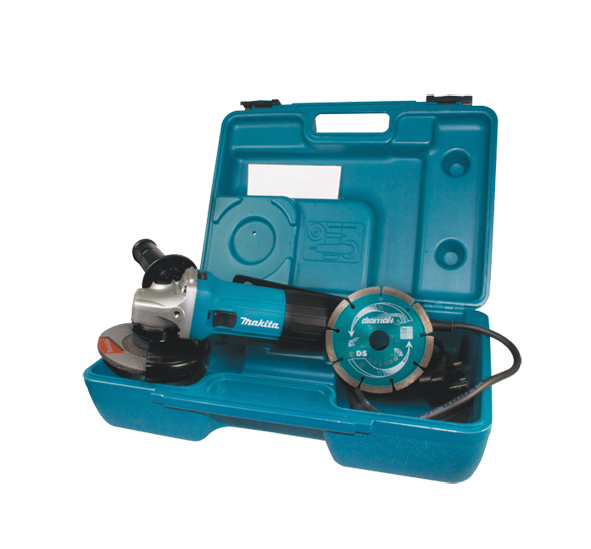 Makita 115mm Grinder 110V With Case And Diamond Blade