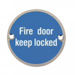 76 DIA SIGN FIRE DOOR KEEP LOCKED SSS