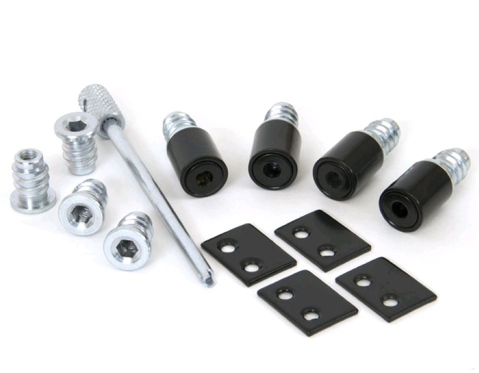 Black Sash Window Stops & Key
