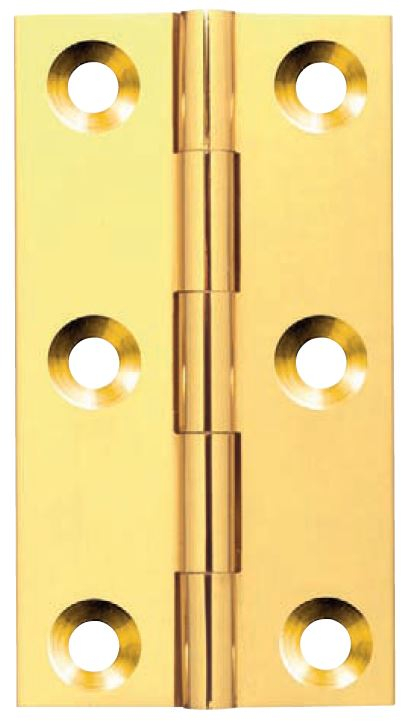 64x35mm S.Col Broad Brass Butt Hinge
