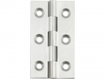 64x35x2.3mm Polished Chrome Plated Broad Brass Butt Hinge