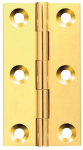 75x42x2mm Polished Chrome Plated Broad Brass Butt Hinge