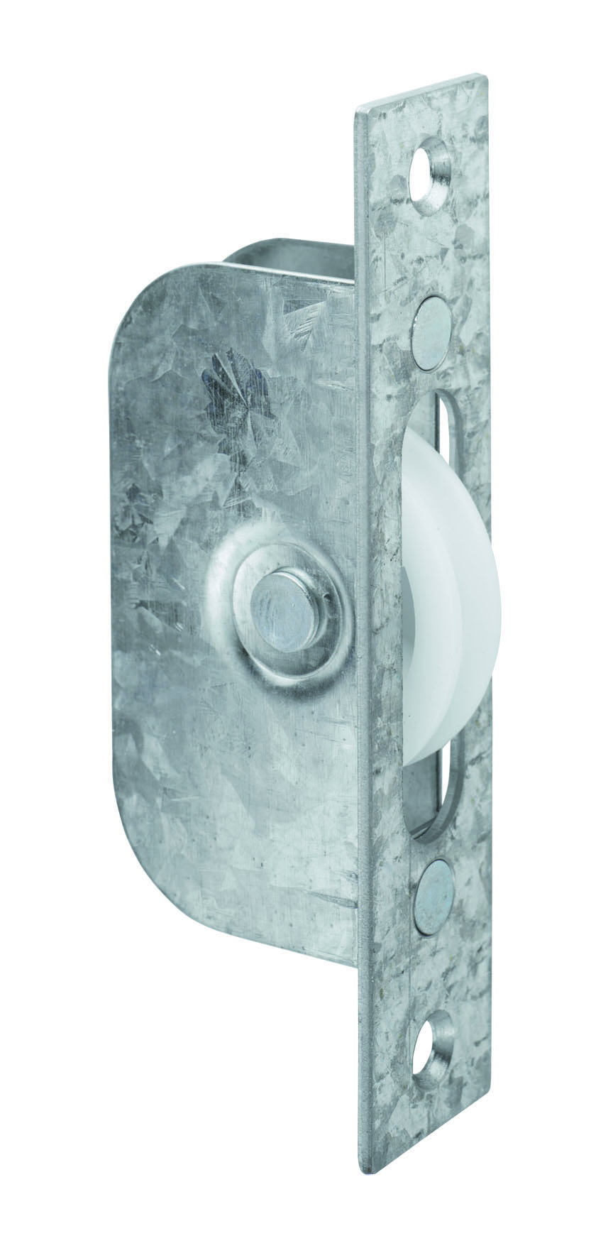 Galvanised Sash Window Axle Pulley with Square Forend