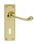 Victorian Scroll Lever Lock Furniture PB 150x43mm