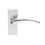 Wing Satin Chrome Lever Latch Handles 118x43mm