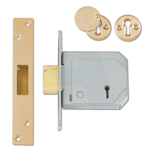 CHUBB 80mm PB 5 Lever BS3621 Mortice Deadlock