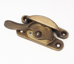 Lockable Fitch Fastener Antique Brass
