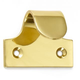 Pressed Hook Sash Lift Polished Brass