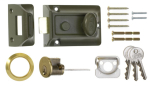 Standard Nightlatch Brass Cylinder 60mm Green Body