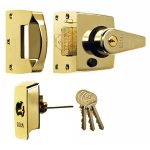 40mm BS High Security Rim Nightlatch Brass Cylinder & Body