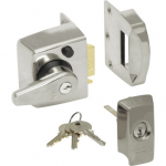40mm BS High Security Rim Nightlatch Satin Cylinder & Body