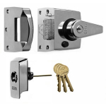 40mm BS High Security Rim Nightlatch Pol. Chrome Body
