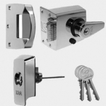 60mm BS High Security Rim Nightlatch Pol. Chrome Body