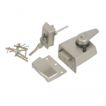 60mm BS High Security Rim Nightlatch Satin Nickel Body
