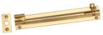 152x38mm Necked Barrel Bolt Heavy Duty Polished Brass