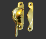 Narrow Locking Fitch Fastener Polished Brass