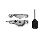 Narrow Locking Fitch Fastener Satin Chrome