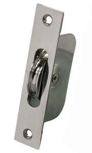 Satin Chrome Sash Window Ball Bearing Pulley with Square For
