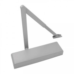 Slim Door Closer with Radius Cover EN 2-5 Silver