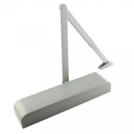 Door Closer Size 2-4, Silver Backcheck, Radius Cover