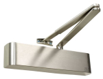 Door Closer Size 2-4, Satin Nickel Radius Cover, Backcheck