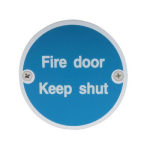 75mm SAA Fire Door Keep Shut Sign