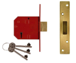 UNION 67mm PL 5-Lever Deadlock (20mm Bolt Projection) BS3621