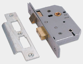 UNION 3-Lever Bathroom Lock SC 77mm