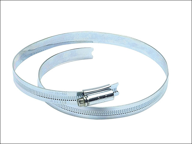 7.1/2in Zinc Plated Hose Clip 158mm - 190mm 6.1/4 - 7.1/2in