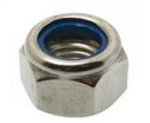 M4 BZP Nylon Insert Nuts - Type T