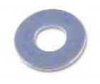 M4 Zinc Plated Flat Washers Form A
