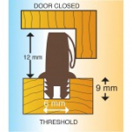 Threshold Sealing Bar 3m Brown