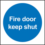 100x100mm FIRE DOOR KEEP SHUT Rigid Plastic