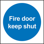 100x100mm FIRE DOOR KEEP SHUT Self Adhesive