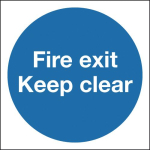 150X150 FIRE EXIT KEEP CLEAR