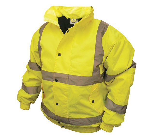 Hi-Vis Bomber Jacket Yellow - Medium