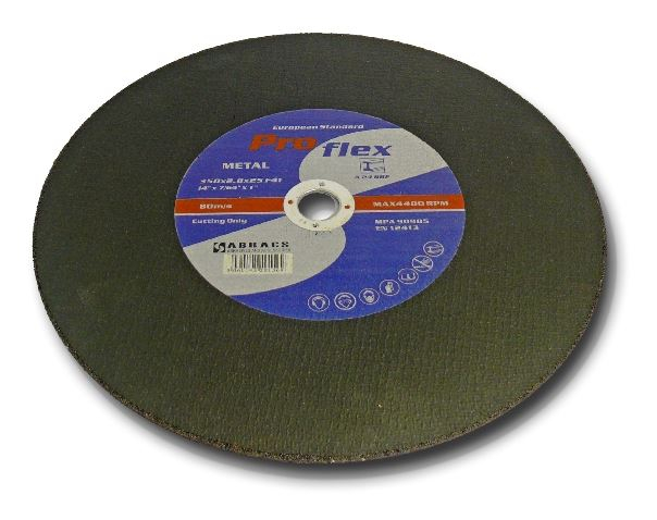 350x2.8x25mm Stationary Flat Metal Cutting Disc