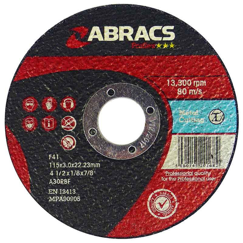 115x3.0x22mm Flat Stone Cutting Disc