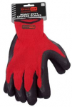 Scorpi Palm Coated Gripper Gloves Size 9 Large Red/Blk