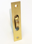 Satin Brass Sash Window Ball B earing Pulley with Square Fore